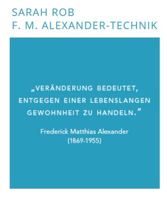 SARAH ROB F.M. Alexander-Technik