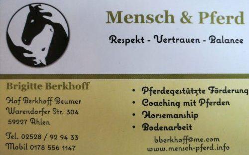 Pferd und Mensch Berkhoff